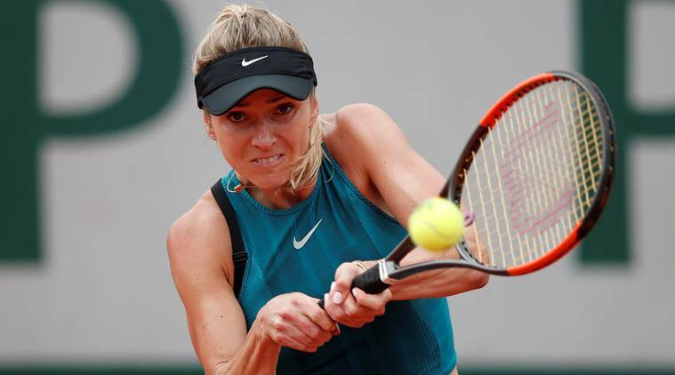 Ukraine's Elina Svitolina in action during her third round match against Romania's Mihaela Buzarnescu at French Open