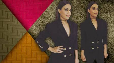 Swara Bhaskar makes pantsuits desirable in her latest Osman Studio avatar