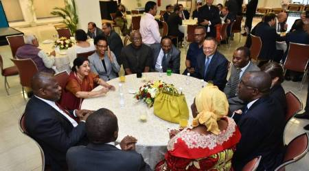 Sushma Swaraj hosts Eid celebrations for envoys, says India won't allow forces of hatred to disruptties
