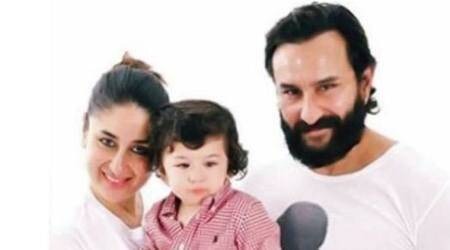 taimur ali khan with kareena kapoor khan and saif ali khan