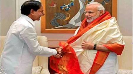 Telangana CM raises many issues concerning state with Modi