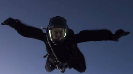 Mission Impossible Fallout: Watch Tom Cruise perform a spectacular high-altitude jump for thefilm