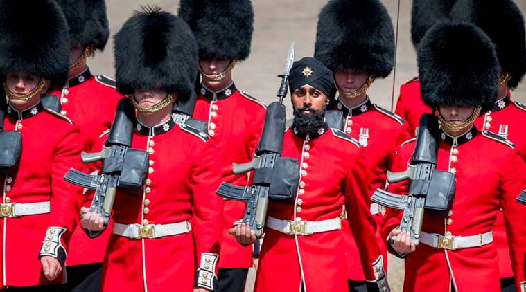 trooping the colours, queen elizabeth II, queen elizabeth II birthday, sikh guardman, trooping the colours sikh guard, Charanpreet Singh Lall