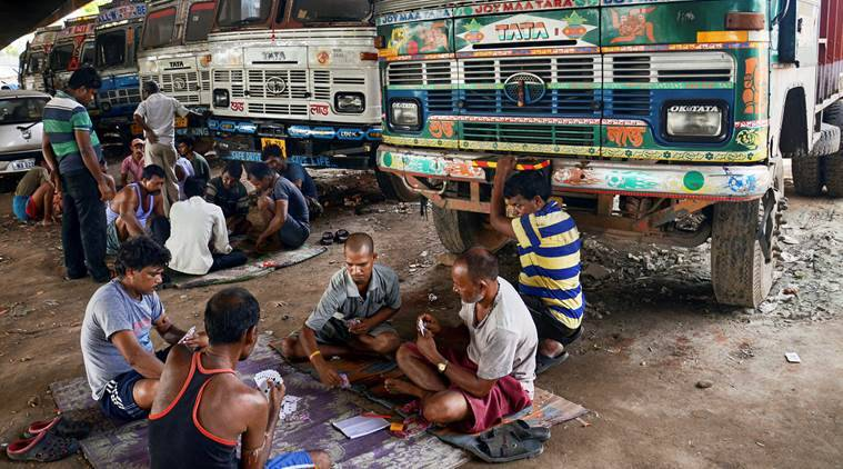 Indefinite strike begins today: '3.75 lakh' trucks remain off roads over rise in fuel prices
