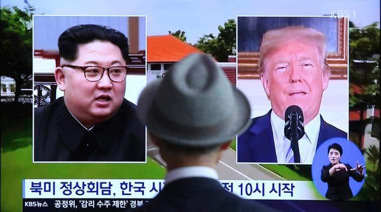 Kim-Trump meet, Kim Jong Un, Donald Trump, Singapore summit, Kim-Trump Singapore summit, US-North Korea, Indian Express news