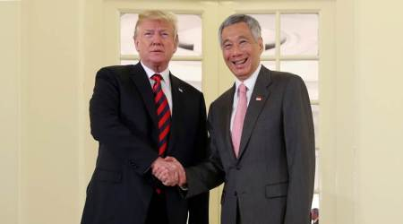 Donald Trump meets Singapore PM; hopes 'nice' outcome from summit with Kim Jong