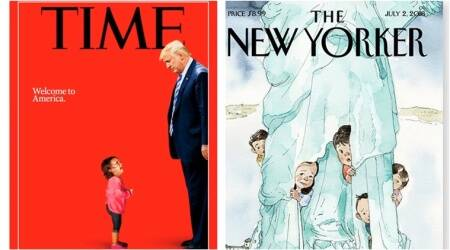trump's zero tolerance policy, children divided at borders, New Yorker's cover, TIME Trump cover, TIME latest cover, Hondulan 2 year old crying photo viral, Trump children, trump illegal immigrants children, trump children separated from parents, What is Trump's zero tolerance policy, Indian express, Indian express news