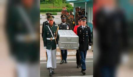Report: US to send caskets to North Korea to return war remains
