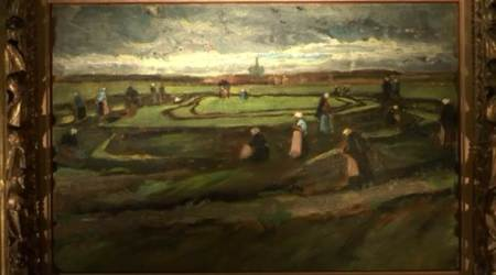 Van Gogh, Netherlands, Gogh landscape fetches, Mona Lisa, Leonardo da Vinci, Italian Renaissance painting, Painting, early landscape paintings, 15th century portrait, Francis I of France, Andrea del Sarto, Musée d'Orsay, Net menders, Abu Dhabi, cloudy sky, formative period, Paris auction, Dutch impressionists, peasent women, International Market, new branch, dollars, euros, Louvre, Mundi, dunes, Hague, countryside, Monday, France, works, times, display, Price, Salvator Mundi, Paris, indian express, indian express news