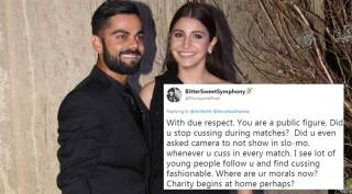 Twitterati ask Anushka to also lecture Kohli on not abusing onfield