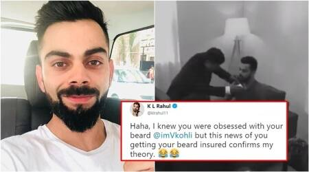 WATCH: K L Rahul tweets 'leaked footage' of Virat Kohli getting his beard 'insured'