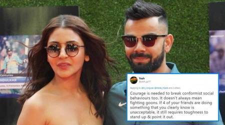 Virat Kohli shares video of Anushka scolding man for littering streets, Twitterati start a debate