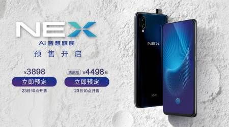 Vivo Nex with bezel-less display, and a pop-up selfie camera ishere