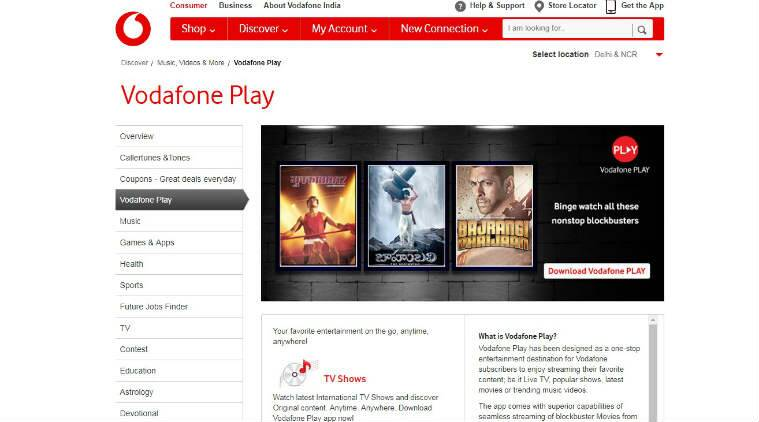 Vodafone, Vodafone Play services, mobile operators, Vodafone prepaid SuperPlans, streaming services, JioTV, video streaming content, Airtel TV, live TV channels, Airtel Hotstar deal