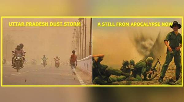 dust storm, dust storm delhi, dust storm photos, west dust storm, delhi city pics, dust storm pics, indian express, indian express news