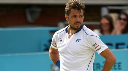 Stan Wawrinka frustrated by Sam Querrey at Queen's