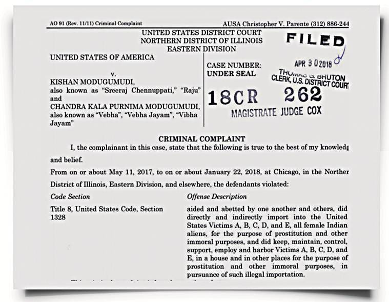 The 41-page affidavit against Kishan Modugumudi and Chandrakala Purnima Modugumudi states that they forged letterheads of reputed organisations registered in the US