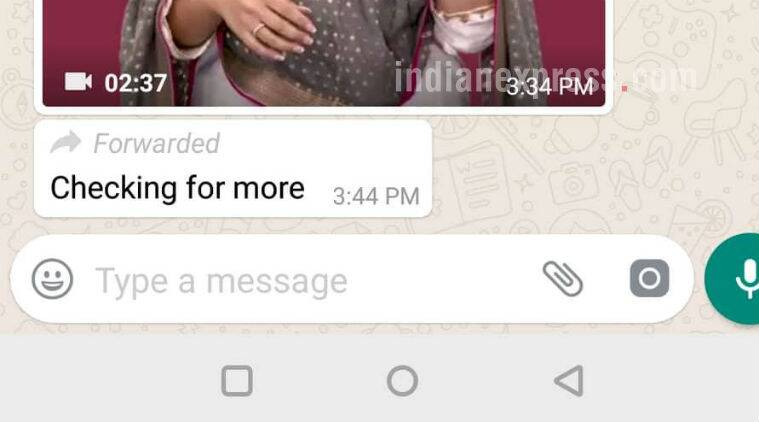 Image result for WhatsApp for Android Now Labels Forwarded Messages