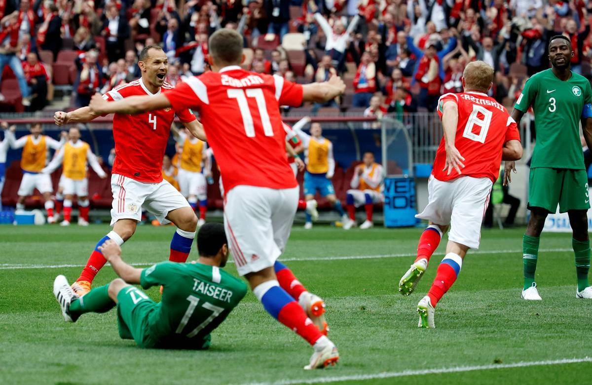 Fifa World Cup 2018 Day 1 Russia Thrash Saudi Arabia 5 0 In First Game Fifa News The Indian Express