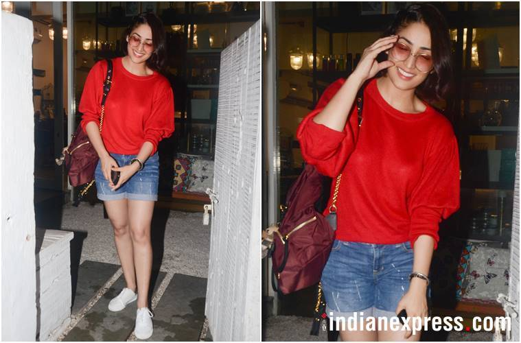 Yami Gautam, Janhvi Kapoor, Khushi Kapoor, Yami Gautam street style, Janhvi Kapoor street style, Khushi Kapoor street style, Yami Gautam latest photos, Janhvi Kapoor latest photos, Khushi Kapoor latest photos, celeb fashion, bollywood fashion, indian express, indian express news