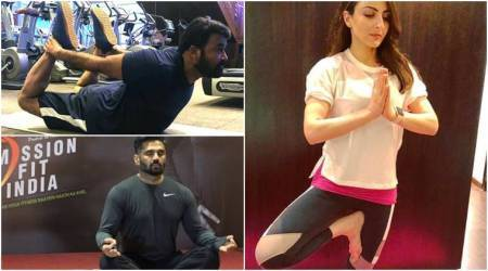 celebrities post photos on international yoga day 2018