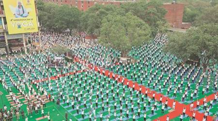 International Yoga Day in Chandigarh: 4,000 take part in Plaza event, break last year's record