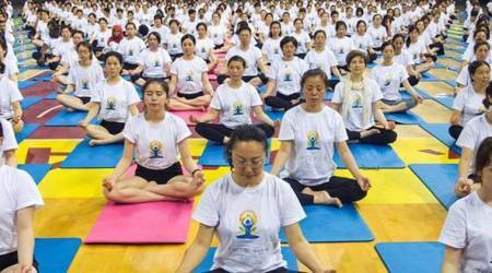 SCO headquarters in Beijing holds first Yoga Day event
