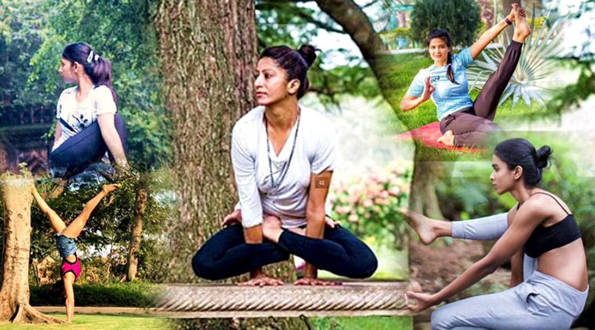 yoginis and friends