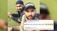 Yuvraj Singh complains about NO electricity; Harbhajan Singh throws a GOOGLY at him