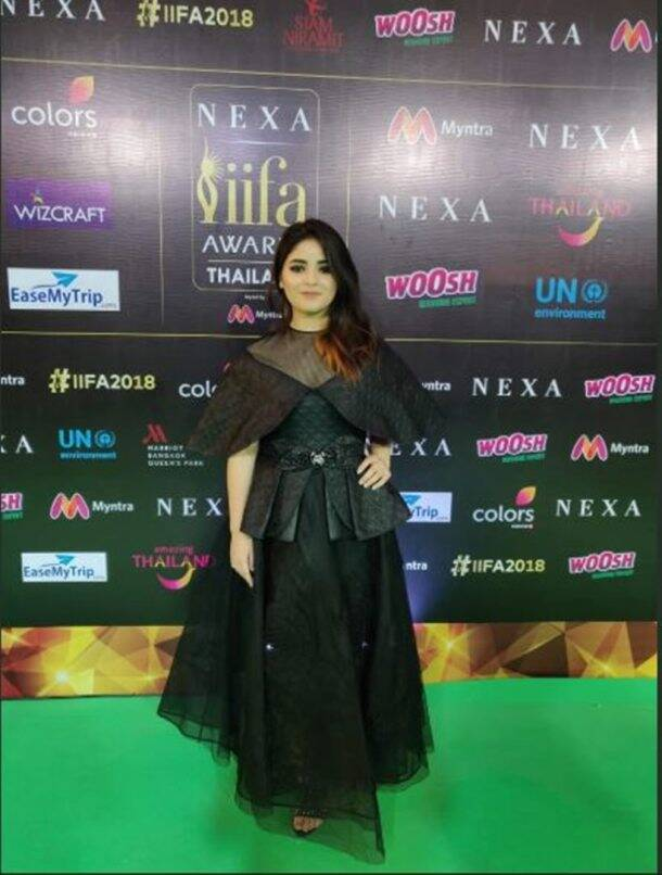 zaira wasim at iifa awards 2018
