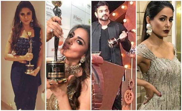 Zee Gold Awards 2018 Hina Khan, Karan Patel