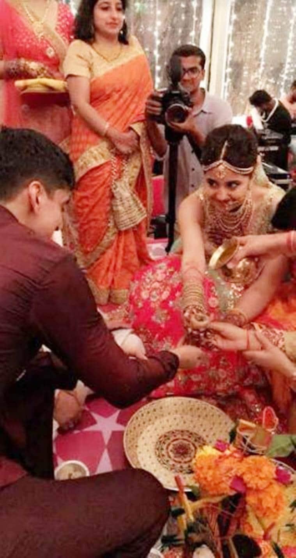 shweta tripathi and chaitnya sharma's wedding pics