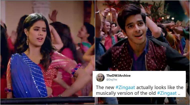 zingaat, zingaat hindi, dhadak zingaat, zingaat new, old zingaat, sairat zingaat, sairat vs dhadak, zingaat hindi reactions, indian express, viral news, entertainment news