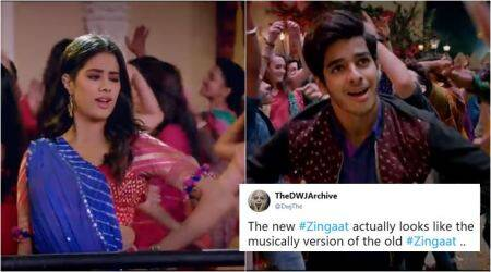 Dhadak song Zingaat: Hindi version of Marathi song disappoints fans; Tweeple say #ZingaatRuined