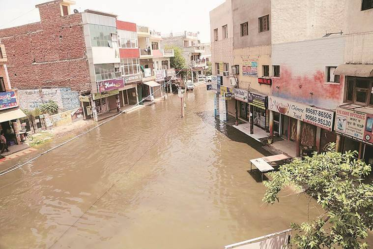 Four days on, Zirakpur residents brave waterlogged streets, stench