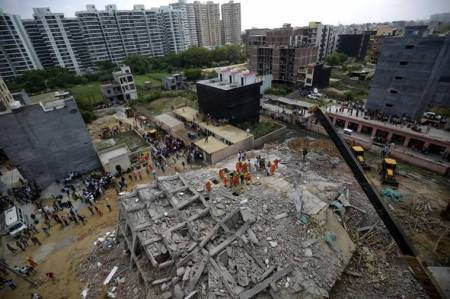 Greater Noida building collapse: Several people buried, nine bodies recovered