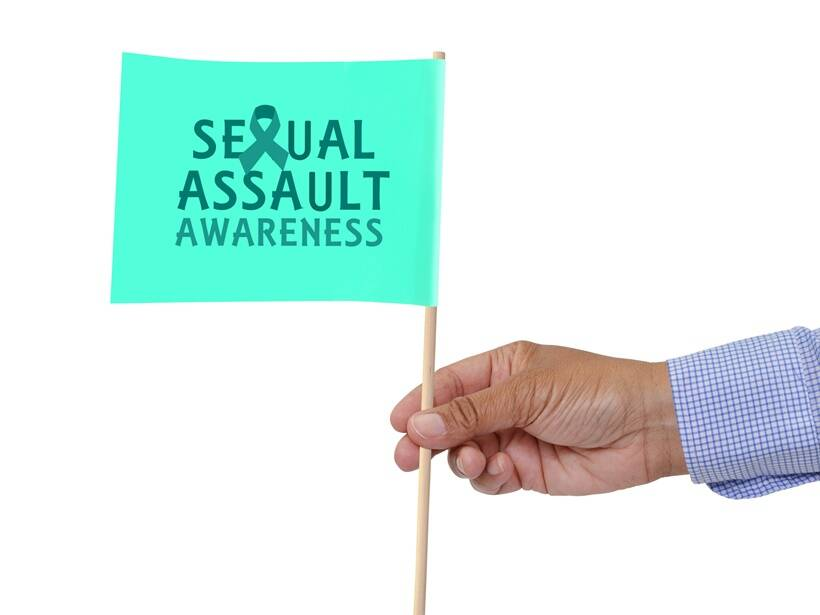 Sexual Assault Awareness flag isolated on white background