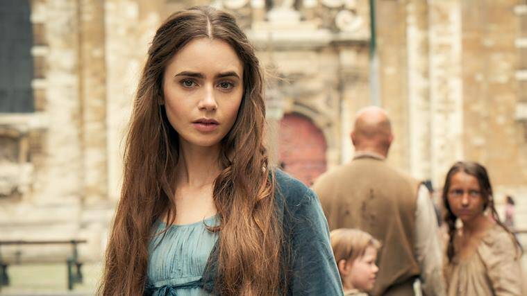Lily Collins as Fantine in les miserables