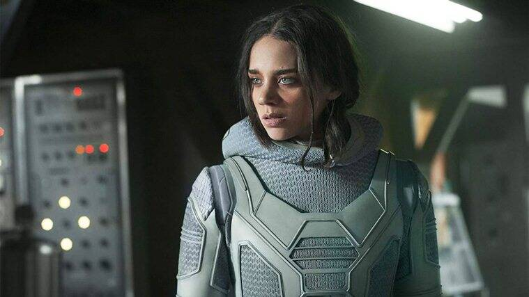 Hannah John-Kamen as ghost in antman and the wasp