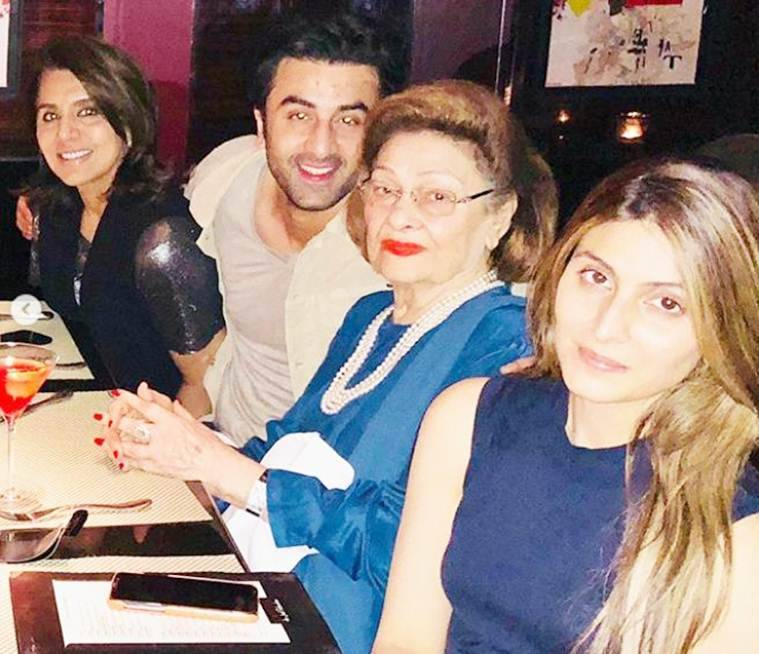 ranbir kapoor at neetu singh birthday