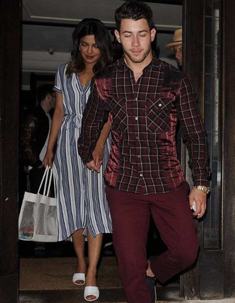 nick jonas with priyanka chopra