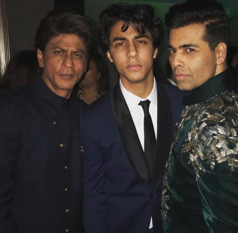 karan johar aryan khan and shah rukh khan