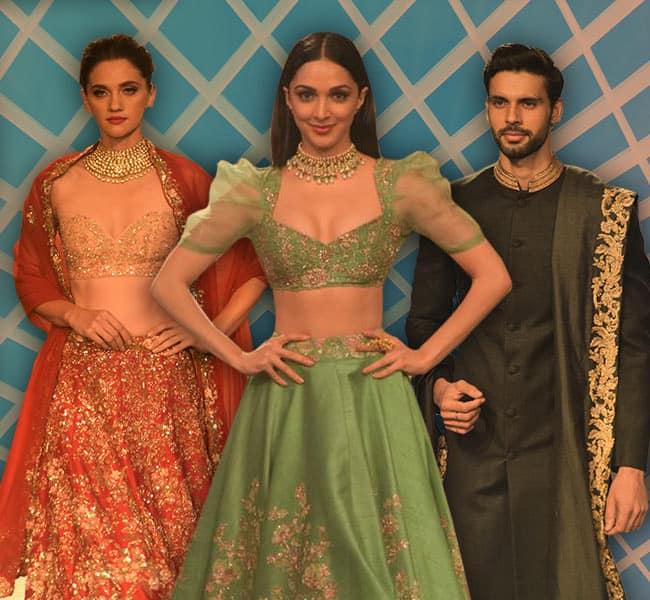 Kiara Advani, india couture week 2018, Kiara Advani india couture week 2018, Shyamal and Bhumika, celeb fashion, bollywood fashion, indian express, indian express news