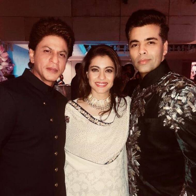 karan johar with kajol and shah rukh khan