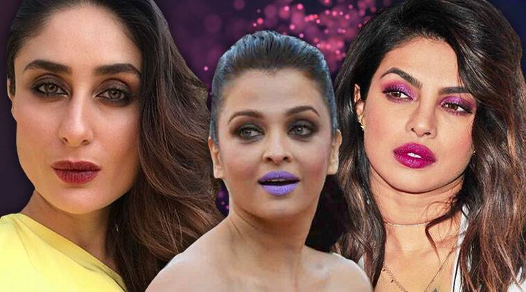 National Lipstick Day 2018, lipstick best buys, best lip shades, Bollywood lip shades iconic, Aishwarya Rai Bachchan, Priyanka Chopra, Kareena Kapoor Khan, indian express, indian express news