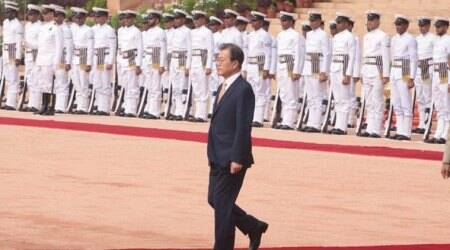 South Korea President gets ceremonial welcome at Rashtrapati Bhawan
