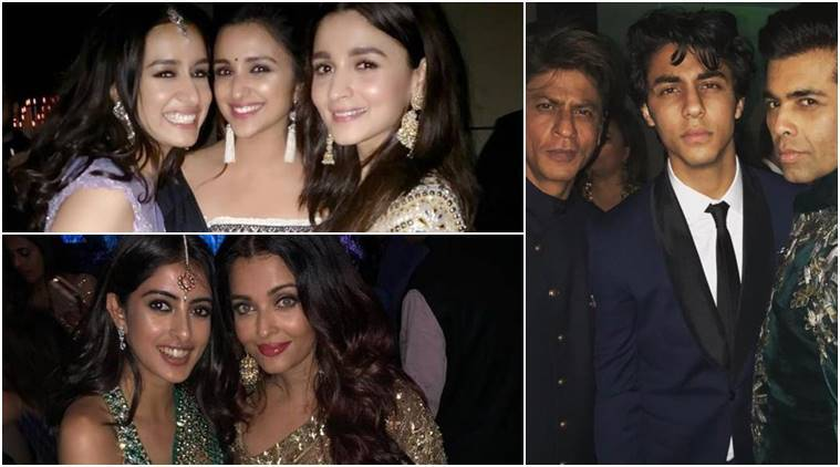 shah rukh khan, karan johar, alia bhatt and other at akash ambani photos