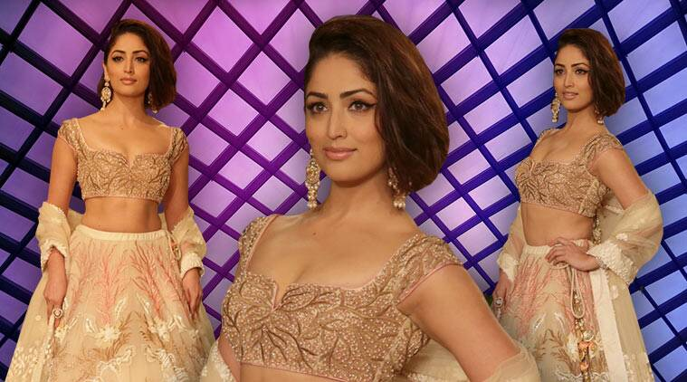 Yami Gautam, Yami Gautam latest photos, Yami Gautam India Couture Week 2018, Yami Gautam Reynu Taandon, Yami Gautam bridal lehenga, indian express, indian express news