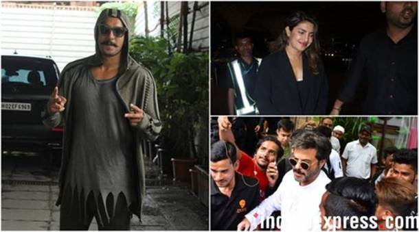 ranveer singh, priyanka chopra and others in mumbai