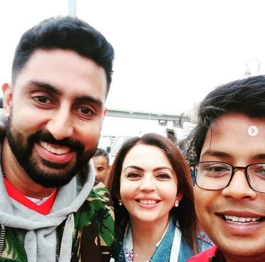 abhishek bachchan, nita ambani, football world cup 2018